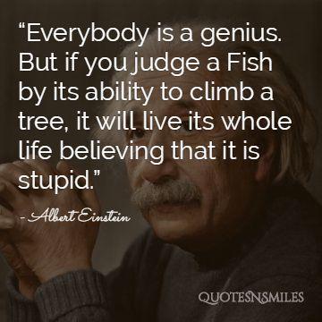 Albert Einstein Picture Quote Believe