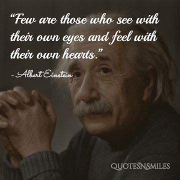 Albert Einstein Picture Quote Heart
