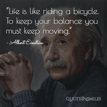Albert Einstein Picture Quote Life