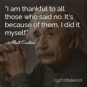 Albert Einstein Thankful Picture Quote