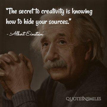 Creativity Albert Einstein Picture Quote