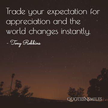 appreciation Tony Robbins Picture Quote