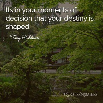 destiny Tony Robbins Picture Quote
