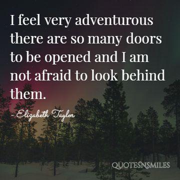 adventerous Elizabeth Taylor Quote