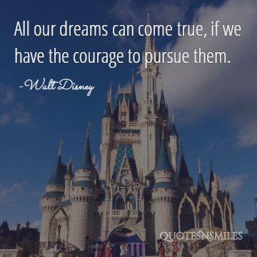 all of our dream come true disney picture quote