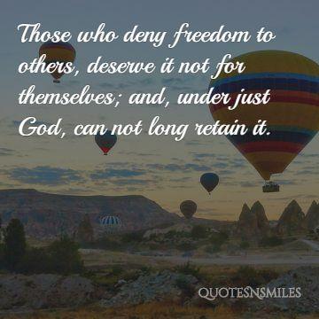 Freedom president quote