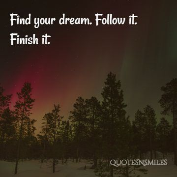find, finish it