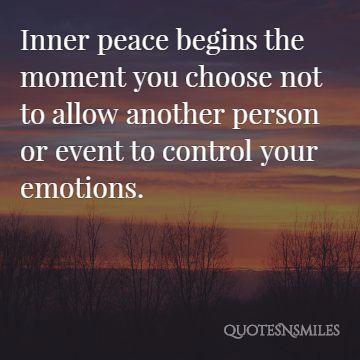 inner peace starts